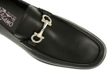 NEW SALVATORE FERRAGAMO CHRIS LEATHER DOUBLE FACE GANCIO LOAFERS SHOES 10 EEE