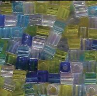 Miyuki Cube 3mm MIX-06 Lagoon Mix (blue & Green Tones) - 12grams +