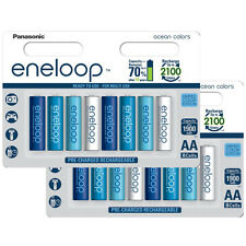 16 x Panasonic eneloop AA 2000 mAh Rechargeable Batteries Limited Edition Ocean