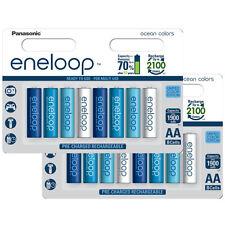 16 x Panasonic eneloop AA 2000 mAh Rechargeable Batteries Limited Edition Ocean