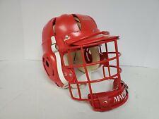 Vintage Maxpro lacrosse men's helmet red