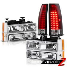 88-93 Chevy C10 Pick Up Truck Corner Bumper LED Clear Red Taillights Headlight