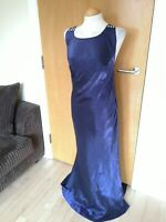 Ladies Vintage Dress Size 12 14 Purple Long Maxi Party Evening Ball Occasion