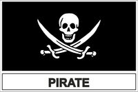 Sticker adesivi adesivo bandiera pirata teschio piratp