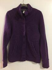 Ibex Women's Carrie Button Up Merino Wool Sweater - Purple - Xs