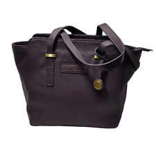 Womens Tote Bag Natural Pebble Grain Leather Plum Pure Luxuries Branded RRP £100