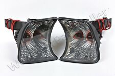 Turn Signals Crystal Corner Lights Gray Fits BMW 5 Series E34 1988-1995