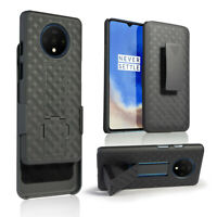 Cover for OnePlus 7T Belt Clip Holster Case with Tempered Glass Screen Protector