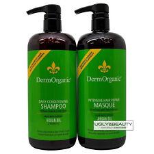 DermOrganic Daily Conditioning Shampoo + Intensive Hair Repair Masque 1 L Set