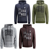 Jack & Jones Core Hoodie Mens Logo Print Drawstring Hooded L/S Sweater JCOTary