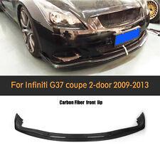 For Infiniti G37 Coupe 2009-2013 Front Bumper Lip Chin Spoiler Carbon Fiber