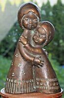 Skulptur Achatit Hans Schirmer Mutter Tochter Modell 1522B 60er 60s 50er 50s