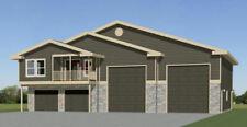 60x48 Apartment with 2-Car 2-RV Garage - PDF FloorPlan - 1,604 sqft - Model 1B