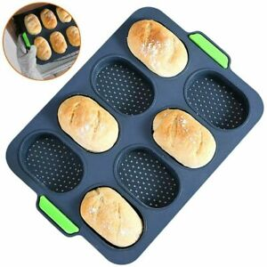 Silicone Baguette Pan Hot Dog Molds Non-stick French Bread Loaf Baking Mould