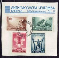 Serbien Briefstück Nr. 58-61 gestempelt in TOP Zustand