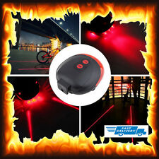 Pit Bike 5 Led Red Laser Beam Cycle Lights Safety Tail Rear Light Lamp Bicycle
