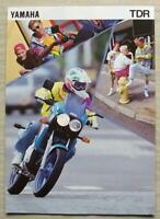 YAMAHA TDR125 Motorcycle Sales Brochure c1993 #3MC-TDR125-93E