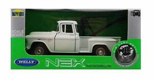 WELLY 1955 CHEVY STEPSIDE TOW TRUCK WHITE 1:34 DIE CAST METAL NEW IN BOX