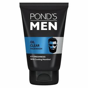 3 Pcs POND'S Men Oil Clear Facewash, Anti-Dullness Cooling Menthol 50 g FS