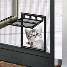 Cat flap for screen door - pet small dog fly screen frame mosquito net gate exit