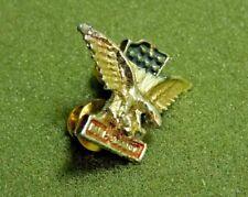 Harley Davidson #1 & Eagle Logo Lapel Pin Motorcycle Biker Vest Hat Silver Toned