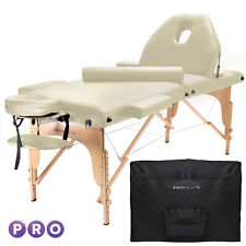 Open Box - Portable Cream Massage Table with Bolster and Tilt Backrest