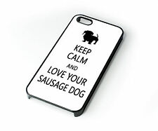 Phone Case Keep Calm Sausage Dog Dachshund Rubber - Hard Back Cover For Iphone