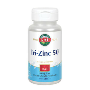 KAL Tri Zinc, Tablet (Btl-Plastic) 50mg 90ct