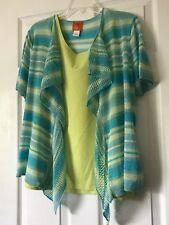 Hearts of palm L, Open Cardigan Sweather, Light,Multi Color, Soft, Silver Lines,
