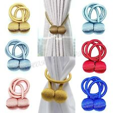 Pair Magnetic Balls Curtain Tieback Buckle Tie Back Clips Holdback  Elegant Deco