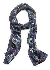 NWT $49 - J. Jill 100% Silk Skinny Scarf / Headband / Belt, Great Paisley Print