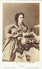 Photo cdv : Levitsky ; Marie Alexandrovna Romanov , Impératrice de Russie