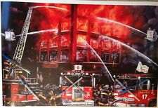 """Chicago Fire department,backdraft movie,large print 20"""" x  30"""" ,man cave fire"""