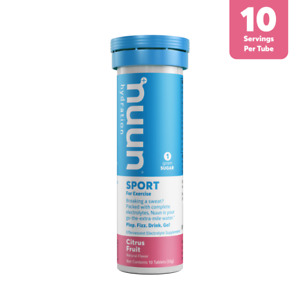 Nuun Sport Hydration Tablets With Electrolytes - Citrus Fruit - 10 Tablets (55g)