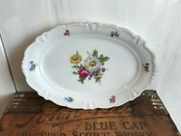 Winterling China Flower Garden Gold Trim Bavaria Serving Platter Plate 12 3/4""
