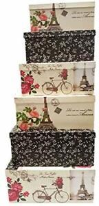 Alef Elegant Decorative Themed Extra Large Nesting Gift Boxes -6 Boxes- Nesting