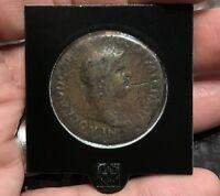 Numis - Sesterzio di Nerone - ROMA SEDUTA - moneta romana antica