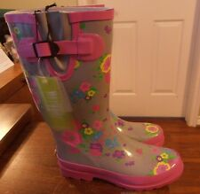 Rain / Gardening Boots with Flowers Womens Size 7 NWT Give as a Gift Comfortable