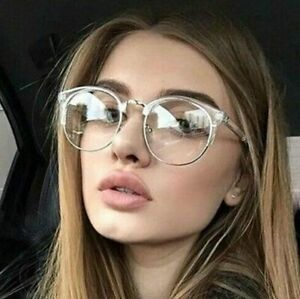 Vintage Round Frame Glasses Men Women Clear Lens  Optical Spectacle Multicolor