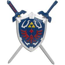 Zelda Hylian Shield & Swords Triforce Wall Mini Display Set Collectible Link