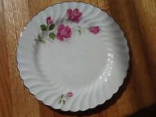 Johnson Brothers Snow White Regency JB 602 pink roses  dessert plate 8 3/4