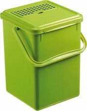 Rotho Biokomposteimer mit Aktivkohlefilter grün 8 L  Abfalleimer Bioabfälle