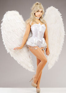 Extra Large White Feather Stunning Heavenly Angel Fancy Dress Cosplay Wings