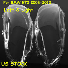 Pair Lens Lamp Cover Headlight Light Cover Lampshade for BMW X5 E70 2007-2013 !