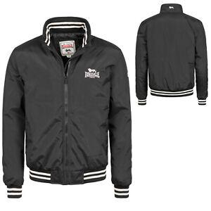Lonsdale Black ODIHAM Quilted College Flight Bomber MA1 Jacket Regular-Fit Jacke