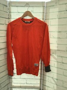 Castelli Chpt3 1.82 Long Sleeve Wool Base Layer Top Jersey Size:36 Fire Red