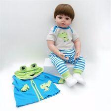 22in Soft Body Silicone Toddler Boy Doll Vinyl Lifelike Newborn Pacifier Dolls