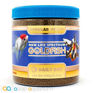 New Life Spectrum GOLDFISH Regular Pellet 150g Fish Food Fast Free USA Shipping