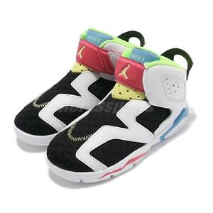 Nike Jordan 6 Retro Little Flex TD Multi White Toddler Infant Casual CT4417-103