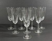 Set of 8 Vintage Waterford Crystal Champagne Flutes